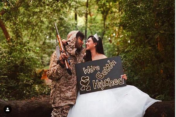 Berburu Di Tengah Hutan Inikah Foto Pre Wedding Ammar Zoni Irish