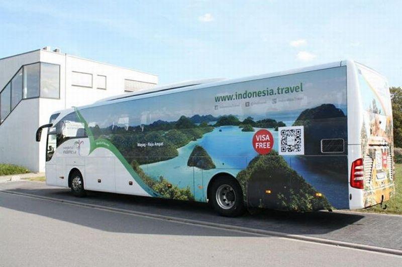 Hilir Mudik Bus Wonderful Indonesia di Jerman, Seperti Apa