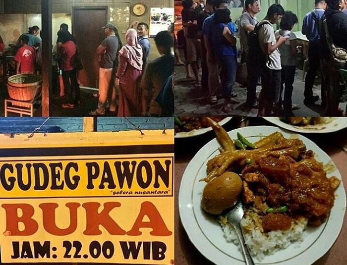 Gudeg Pawon Jogja Kuliner Malam Yang Tak Pernah Sepi
