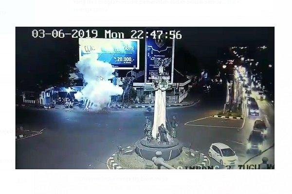 CCTV saat bom di Kartosuro