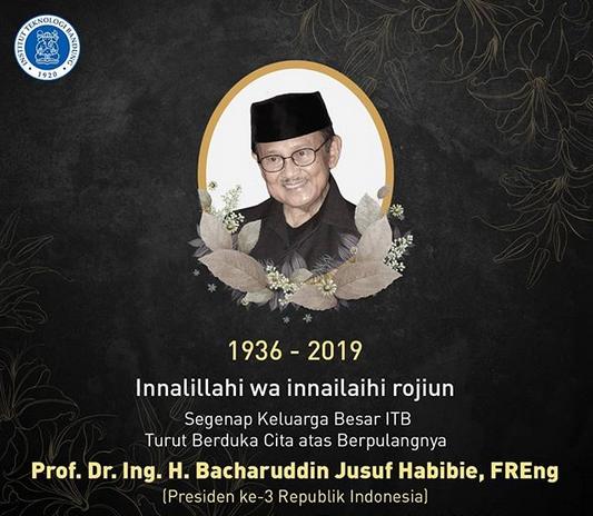 Rektor Itb Bj Habibie Majukan Ilmu Pengetahuan Dan