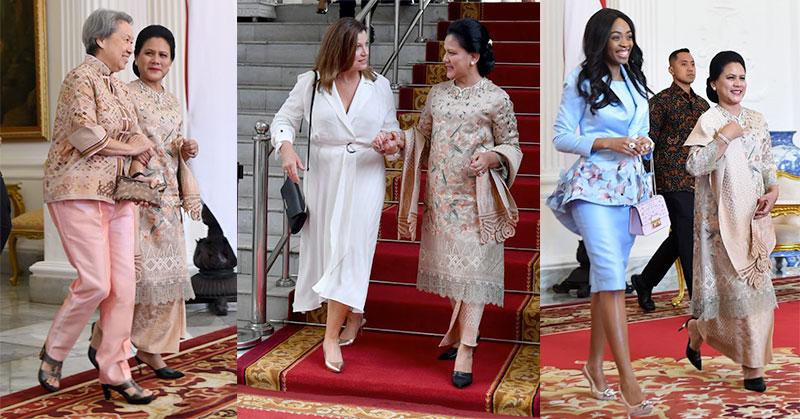 https: img.okeinfo.net content 2019 10 20 194 2119426 cantiknya-3-istri-kepala-negara-di-samping-iriana-jokowi-saat-pelantikan-presiden-LMvDeYFDy9.jpg