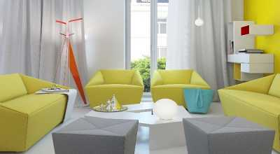 Gambar Desain Ruangan Sempit Mungil Kreasi Warna Interior