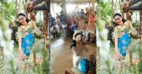 Kebaya Putih Panjang dan Kemben Biru Cerah, Pilihan Vicky Shu Jalani Prosesi Siraman dan Sungkeman Jelang Hari Pernikahan