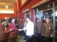 Terobos Hujan dan Macet, Jokowi Hadiri Rembuk Nasional 2017