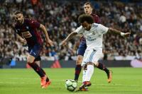 Lepaskan Tendangan Mendatar, Marcelo Bawa Real Madrid Unggul 3-0 atas Eibar
