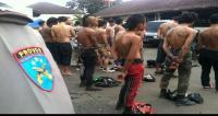 Operasi Libas Lodaya, 18 Pelaku Kejahatan Jalanan di Cirebon Diamankan