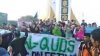 Aksi Bela Palestina, Mahasiswa HMI Minta Pemimpin Muslim Bersikap