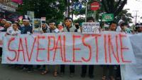 Aksi Bela Palestina, Mahasiswa di Malang Gelar Teatrikal dan Doa Bersama