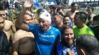 Menteri Susi Berhasil Kalahkan Sandiga Uno Saat Lomba Renang di Danau Sunter