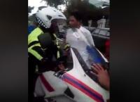 Polisi Diduga Tabrak Pemotor saat Kawal Konvoi Moge Bikin Warga Geram