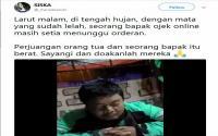 "Driver Ojol Ketiduran Tunggu Pesanan, Netizen: ""Inilah Jihad yang Sesungguhnya"""