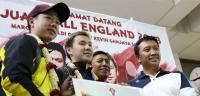 Marcus Kevin Dapat Sambutan Hangat Tiba di Jakarta