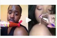 Pakai Saus dan Ayam Goreng Pria Parodikan Cara Make-Up Rihann