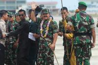 Dikawal 4 Pesawat Tempur, Panglima TNI Terbang ke Natuna Tinjau Pangkalan Militer