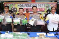 Polda Riau Amankan 12 Kg Sabu dan 24 Ribu Ekstasi Selundupan dari Malaysia