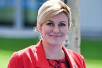 Tonton Final Piala Dunia 2018 Langsung, Presiden Kroasia Kolinda Grabar Curi Perhatian