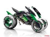 Kawasaki Kembangkan Sepeda Motor Listrik 3 Roda