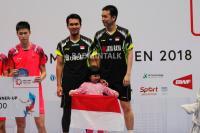 Ahsan Hendra Juara Singapura Open 2018