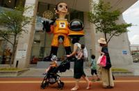 Patung Bocah Berpakaian Hazmat di Dekat Lokasi Bencana Nuklir Jepang Dihujani Kritik