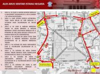 Ada Upacara HUT Ke-73 Indonesia, Lalu Lintas di Sekitar Istana Merdeka Dialihkan