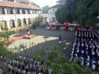 Khidmatnya Upacara HUT Ke-73 RI di Lawang Sewu Semarang