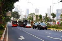 Jalan Sekitar GBK Sudah Ditutup, Polisi: Mobil Tak Ada Stiker Khusus Dilarang Masuk!