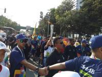 Antusiasme Warga Ibu Kota di Hari Terakhir Kirab Obor Asian Games