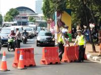 Rekayasa Lalin Pembukaan Asian Games, Lalu Lintas Menuju Senayan Padat