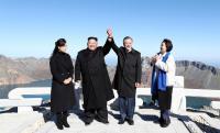 Bersama Kim Jong-un, Presiden Korsel, Moon Jae-in Wujudkan Mimpi Daki Gunung Ikonik Paektu