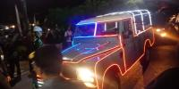 Land Rover V8 Jokowi Ramai Lampu Warna-Warni