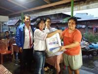 Terima Bantuan Dispenser, Para Pedagang Kecil di Manado Berharap Perindo Terus Sukses