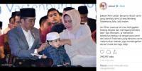 Jokowi Apel Hari Santri Ajak Cucu, Kegantengan Jan Ethes Bikin Netizen Gemes