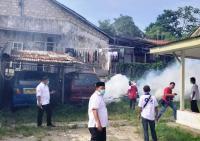 Antisipasi DBD, Caleg Perindo Lakukan Fogging di Ciampea Bogor
