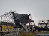 Disapu Angin Kencang, Panggung Konser K-Pop Hyoyeon SNSD di Tangsel Roboh
