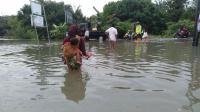 Diguyur Hujan Semalaman, Ribuan Rumah di Pekanbaru Terendam Banjir