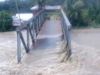 Jembatan Ambruk Imbas Curah Hujan Tinggi di Pahae Tapanuli Utara