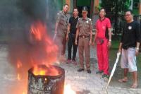 Invalid, Belasan Ribu E-KTP di Bali Dibakar