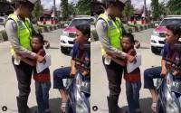 Takut Dipenjara, Tangis Bocah Pecah saat Ditilang Polisi