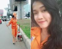 Viral Petugas Kebersihan PPSU Berparas Cantik, Warganet: Mantul