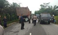 Tabrak Truk, Polisi Tewas Mengenaskan di Pekanbaru