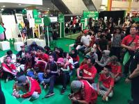 Penonton Antusias Hadiri Nobar Timnas U-22 vs Myanmar di Palembang