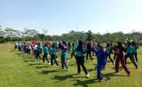 Warga Banjarnegara Antusiasme Senam Bersama Kartini Perindo