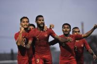 Gol Marinus Bawa Timnas Indonesia U-22 Unggul 1-0 atas Kamboja di Babak Pertama