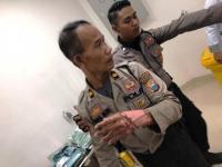 Amankan Demo Mahasiswa di Makassar, Seorang Polisi Terbakar