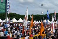 Golkar Surati Bawaslu soal Benderanya Muncul di Kampanye Prabowo-Sandiaga