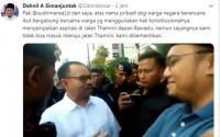 Sudirman Said dan Dahnil Anzar Dilarang Gabung dengan Massa Aksi 21 Mei