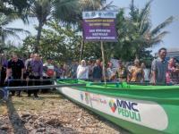 Pemkab Tangerang dan MNC Peduli Salurkan 15 Perahu ke Nelayan Korban Tsunami Selat Sunda