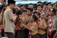 Lepas Kontingen Pramuka, Jokowi: Timbalah Persahabatan dari Negara Lain