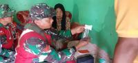 Cek Kesehatan Masyarakat Desa, Tim Medis TMMD Datangi Langsung ke Rumah Warga